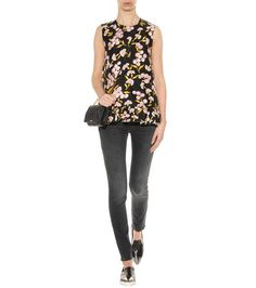 mytheresa.com - Sneaker slip-on in pelle con cap metallico - Scarpe - Luxury Fashion for Women / Designer clothing, shoes, bags