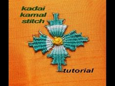 Hand embroidery :Kadai kamal stitch tutorial ( BORDADO INDIANO )
