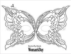 Butterfly mask! Link to print: http://www.womansday.com/home/craft-ideas/butterfly-mask-5521?src=soc_twtr