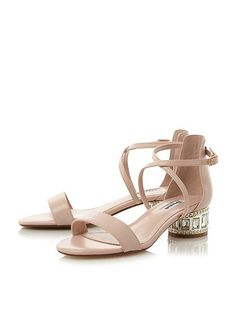 House of Fraser - Dune London - Mermaid jewel embellished sandals in pink --- was £85 ---- Now £75