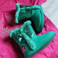 Sparkly turquoise boots keep little Princess feet warm! #PaylessPH #ILovePaylessPH