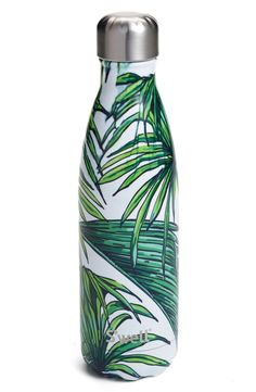 S'well 'Waikiki' Stainless Steel Water Bottle available at Swell Water Bottle, Cute Water Bottles, Water Bottle Design, Drink Bottles, Tropical Water Bottles, Cute Cups, Drink More Water, Water Well, Stay Hydrated