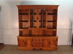 35571 Cushman Solid Maple China Hutch Cabinet | eBay