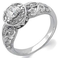 Unique Engagement Rings this classic vintage style is a steal