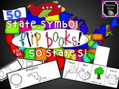 Your students will love learning about the 50 states with these hands-on flip books! There are 50 flip books included (one for each state). #TpT #TeacherGems #StateSymbols