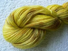 Golden Cornfield Baby Alpaca 4-ply fingering sock weight yarn, hand dyed / painted