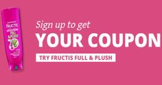 Save On Fructis Full & Plush