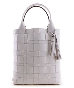 Michael Kors Optic White Vivian Leather Tote | zulily