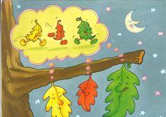 """Pronto llegará una nueva estación: el invierno y le diremos adios al otoño. Os dejo el cuento de otoño: """"Las tres hojitas"""" que hemos cont... Autumn Activities, Decoupage, Kindergarten, Seasons, Education, Halloween, Disney Characters, Fall, Ideas Para"""