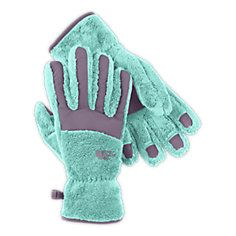 NorthFace Women's Denali Thermal Gloves Color: Pache Grey (two-tone) Size: S or M
