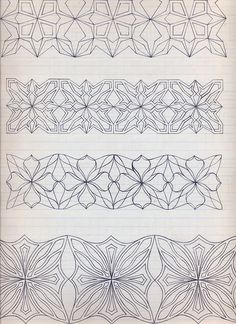 1927. Fashiondrawing. Patterns for decoration. by Eva Maria Mann, via Flickr