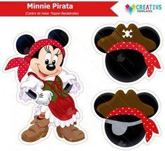 Centro de mesa Minnie Pirata