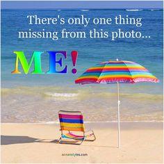 Wish I was sitting in this beach chair, under the sun umbrella!