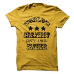 Worlds Greatest Farter Funny Fathers Day Shirt New Dad Gift Tee Poop Humor Tee