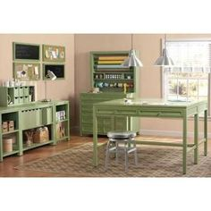 Craft room --- Martha Stewart Living Craft Space 8-Cubby Center Organizer in Picket Fence-0463530400 - The Home Depot