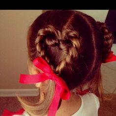 Valentine hair!