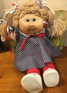 1985 Cabbage Patch Kids by lishyloo on Etsy Cabbage Patch Kids Dolls, Vintage Baby Clothes, Dimples, Green Eyes, Kids Girls, Her Hair, Pumpkin, Cute, Etsy