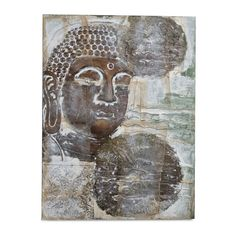 Find it at bombaycompany.com - Our stylized Bronze Buddah on canvas looks like a collector's original. This high quality reproduction captures the Buddah's primitive origin. Layered with handmade papers and gold leaf adds depth and authenticity to the work. Bronze Buddah on canvas is a Bombay exclusive.