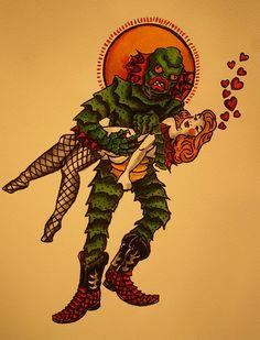 """""""Monster Flash Art"""" Creature Love - Zac Amendolia"""