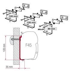 Fiamma® 98655-855 RV Awning Installation Adapter Bracket