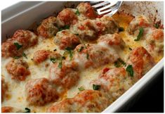 This Low Carb Meatball Casserole Recipe is definitely a family favorite! It's not hard to make and tastes like it was baked in a high-end restaurant! It's hard to believe this recipe is Keto dinner recipe or a Low Carb dinner idea! Homemade meatballs with zucchini are a winner around here!