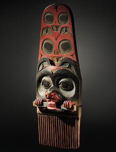 Tlingit Polychromed Wood Comb (est. $60/80,000). Photo: Sotheby's