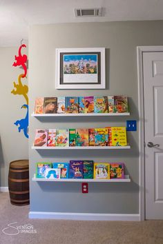 love the shelves and the barrel of monkeys hanging from the ceiling!!