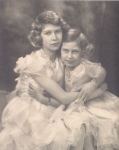 Queen Elizabeth and Princess Margaret, 1939