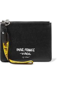 Off-White - Printed Textured-leather Pouch - Black 2fedcb260fc