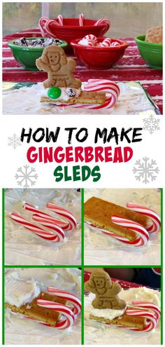 How to Make Gingerbread Sleds : easy kid's craft for the holidays.  Great for a neighborhood party or a classroom holiday party.