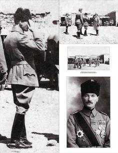Hatırası daima gönlümüzde yaşayacak; Büyük Önder Gazi Mustafa Kemal Atatürk. 100 yıl önce: Eylül 1917 Diyarbakır'da. Avusturya-Macaristan otomobil kolu teftişinde.