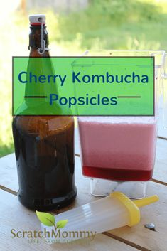 Cherry Kombucha Popsicle Recipe