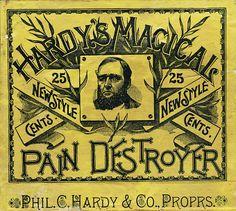 love the old medicine labels....HardysPainLabel150