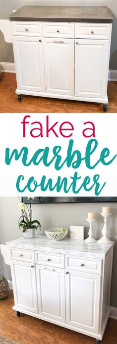 Fake a marble countertop with this easy to follow DIY tutorial! #DIY