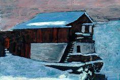 Serie schilderijen van Zwitserland door Ad van den Boom. Saas Fee, Mountain Paintings, Zermatt, House Styles, Decor, Decoration, Mountain Drawing, Decorating, Deco