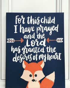I'm just in love with this cute little fox! 😍 Made this for my baby cousin's woodland themed nursery. Fox Nursery, Nursery Room, Elephant Nursery, Girl Nursery, Baby Boy Rooms, Baby Boy Nurseries, Neutral Nurseries, Babyshower, Fox Decor