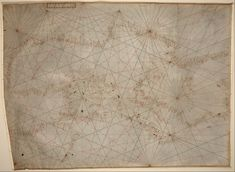 This portolan chart of the #Mediterranean Sea ca. 1320-1350 is the oldest original cartographic artifact in the Library of Congress!
