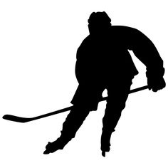 TheVinylGuru Hockey Wall Sticker Decal 5 - Decal Stickers and Mural for Kids Boys Girls Room and Bedroom. Sport Wall Art for Home Decor and Decoration - Ice Hockey Player Silhouette Mural