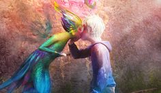 Jack frost and tooth fairy kiss :)<<<<<<< WAS THIS A THING??? - Faints after fan girling-