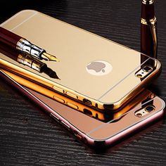 I6 6s Cool Hybrid Aluminum Mirror Cover For Iphone 6 6s 4.7inch Metal Frame +Acrylic Back Case Protective Skin For Apple 6s Kit-in Phone Bags & Cases from Phones & Telecommunications on Aliexpress.com | Alibaba Group