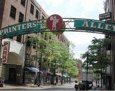 Printer's Alley in Nashville, Tenn.