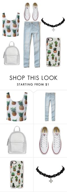 """""""Untitled #5"""" by kamillalena on Polyvore featuring Hollister Co., New Look, Converse and Casetify"""
