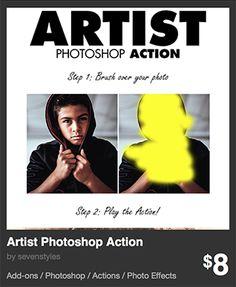 Artist Photoshop Action