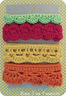 Ideas... Crocheted trim.. No pattern..