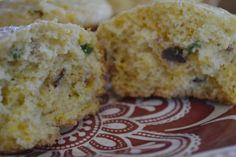 Makes 12 ( 4 points + )     1 c. flour  ¾ c. yellow cornmeal  ½ c. shredded cheddar cheese  2 T. sugar  1 tsp. baking powder  1 tsp. baki...