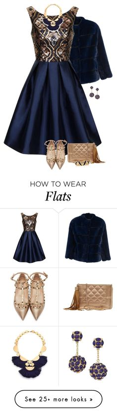"""2548"" by mljilina on Polyvore featuring Mavina, Chi Chi, Valentino, Chanel, Kenneth Jay Lane, Tory Burch and Ciner"