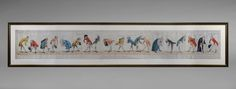 """""""The Prince's Bow"""". This 7 foot long caricature coloured engraving is incredibly rare and fully described on Harvey's website at www.wrharvey.com. It dates from 1788."""