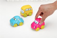 Children's cartoon eyes mini toy car Pull Back Cars