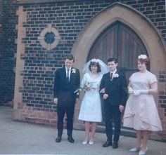 Peter pan collar wedding dress! | 60 Adorable Real Vintage Wedding Photos From The '60s