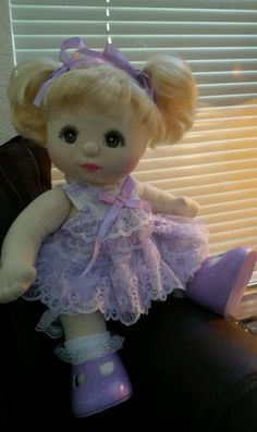 MATTEL MY CHILD DOLL-1985 BLONDE HAIR BROWN EYES - EXCELLENT CONDITION #Mattel #DollswithClothingAccessories